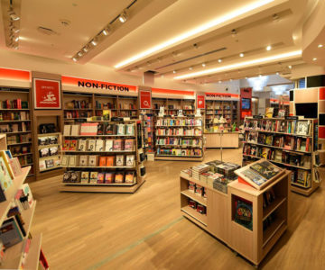 Foyles, integrated ceiling lighting